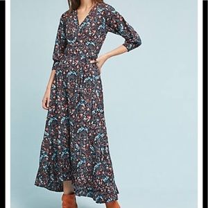 Anthropologie Flannel Toulon wrap Dress
